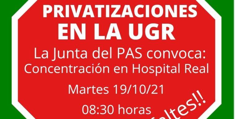 La Sra. Rectora de la Universidad de Granada privatiza la limpieza.